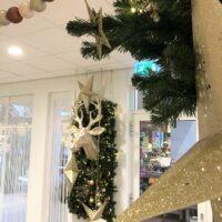 Kerst decoratie kapsalon