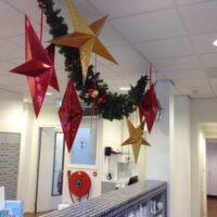 Winkel decoratie kerst Schinkel apotheek Amsterdam