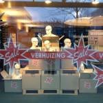 Sale etalage bij Schmidt Optiek Amsterdam